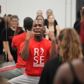 Reach. Company class. Rise and ACE Dance & Music YDCs