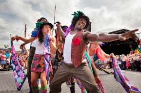 Folk Dance Remixed, Dance Village 2015. Pic: Mark Simmons
